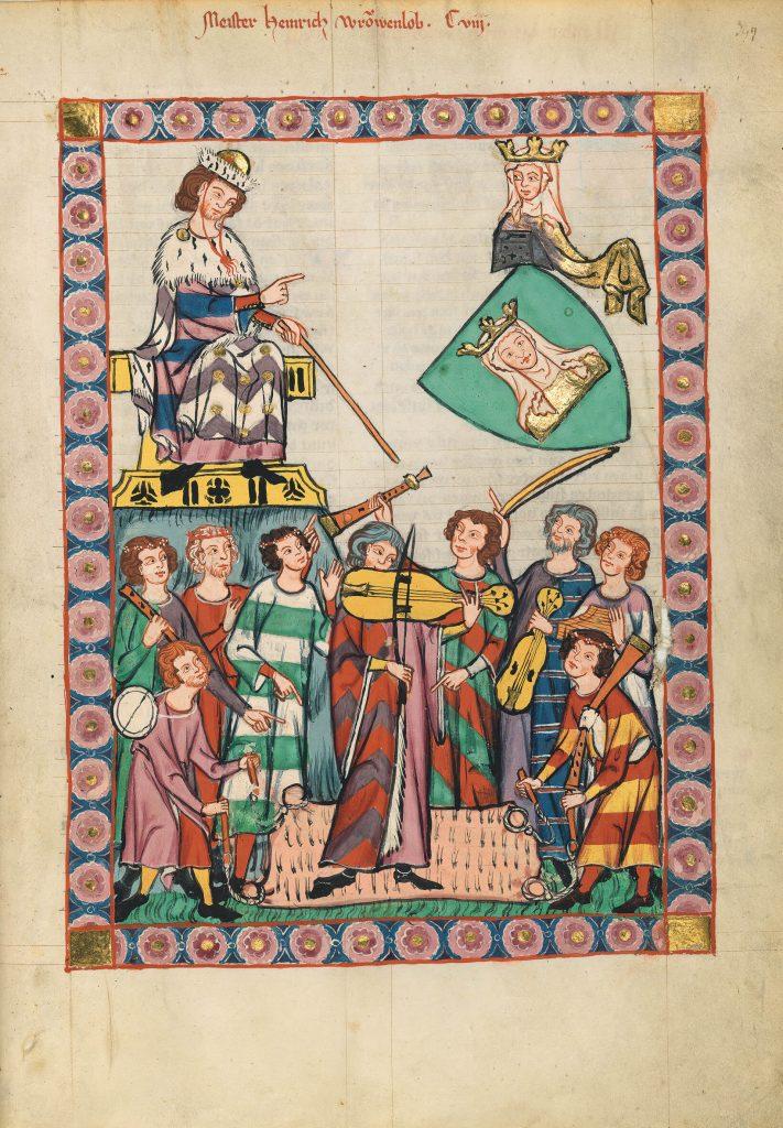 """Codex Manesse, eines der Highlights in der Landesausstellung """"Die Kaiser und die Säulen ihrer Macht""""."""