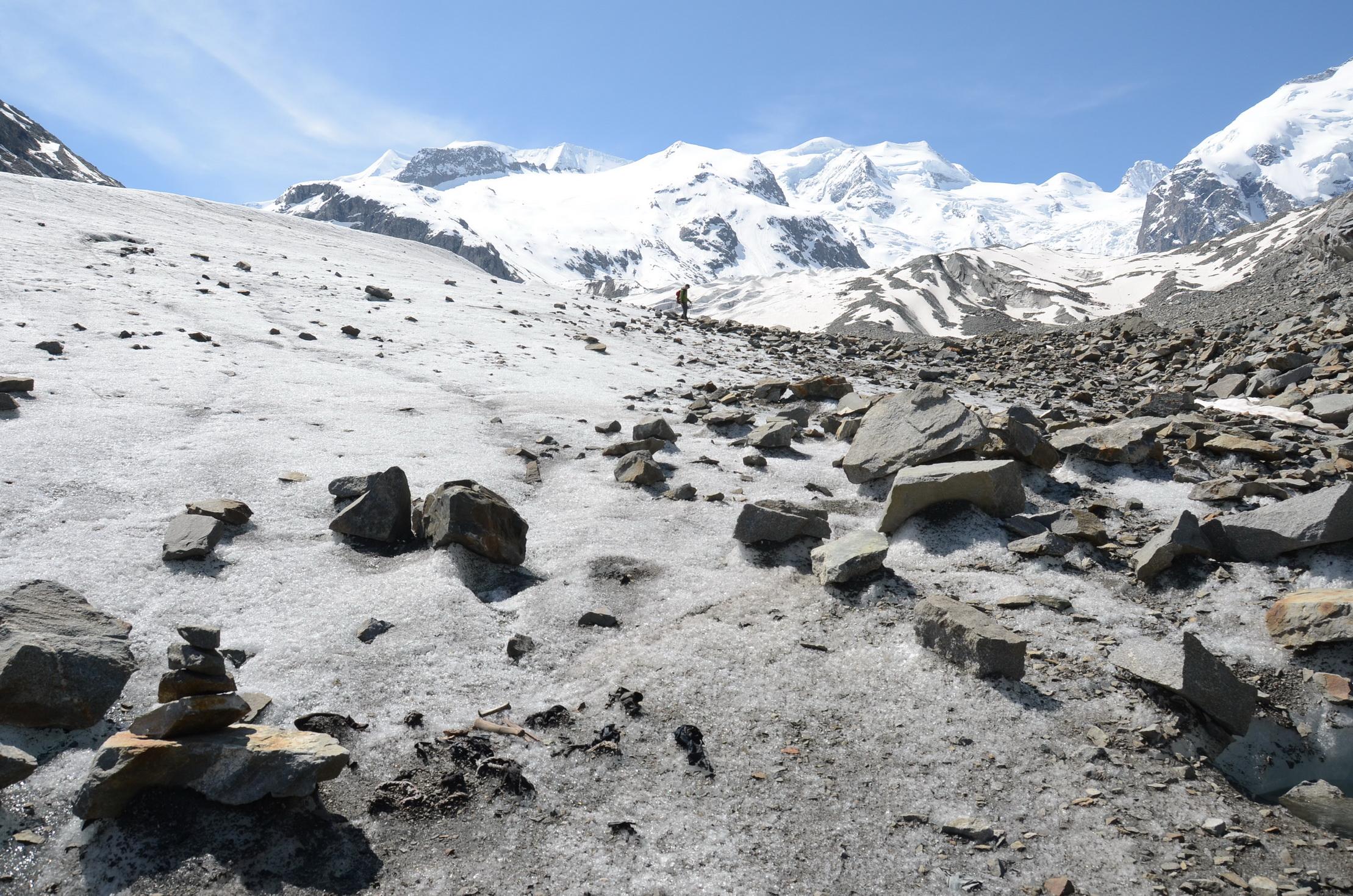 Objekt beim Wandern im Eis gefunden – was tun?