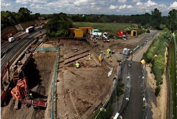Ausgrabungsarbeiten in Cataractonium, North Yorkshire (Credit: Northern Archaeological Associates)