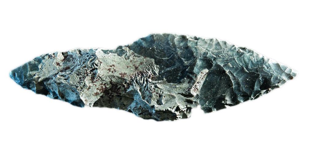 Neuentdeckungen wie dieser Silexdolch aus Jänschwalde in Brandenburg sind der erste Nachweis von Hinterlassenschaften der Lausitzer Kultur auf der Grießener Hochfläche, abseits der Flussaue.