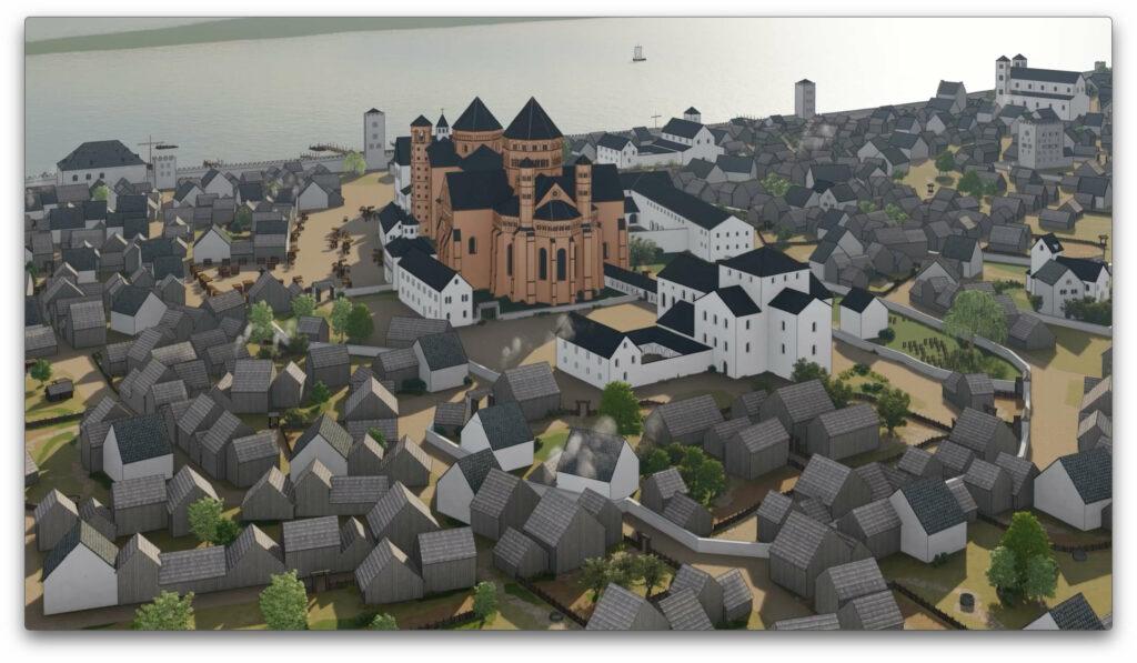 Domareal Mainz um 1250